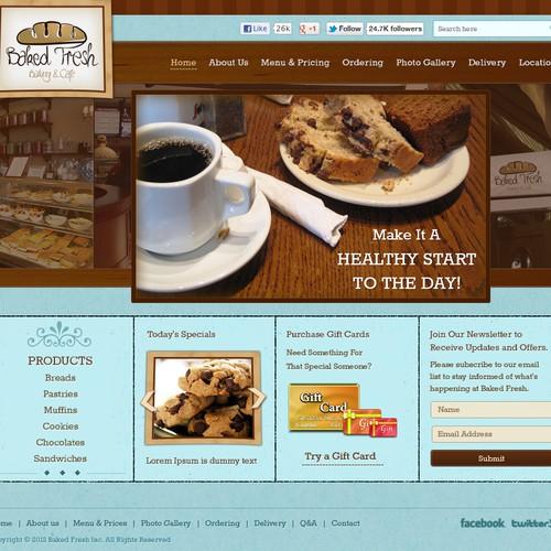 Create the next website design for Baked Fresh, Inc.