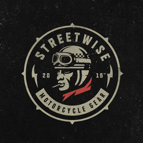 Logo design concept for Motorcycle gear line