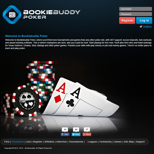 Need Poker Site landing page