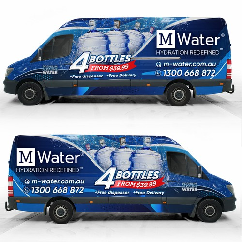 Water Delivery Van Wrap