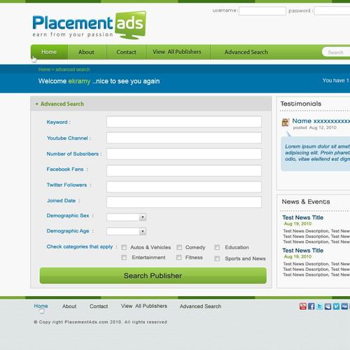 PlacementAds.com Site Redesign
