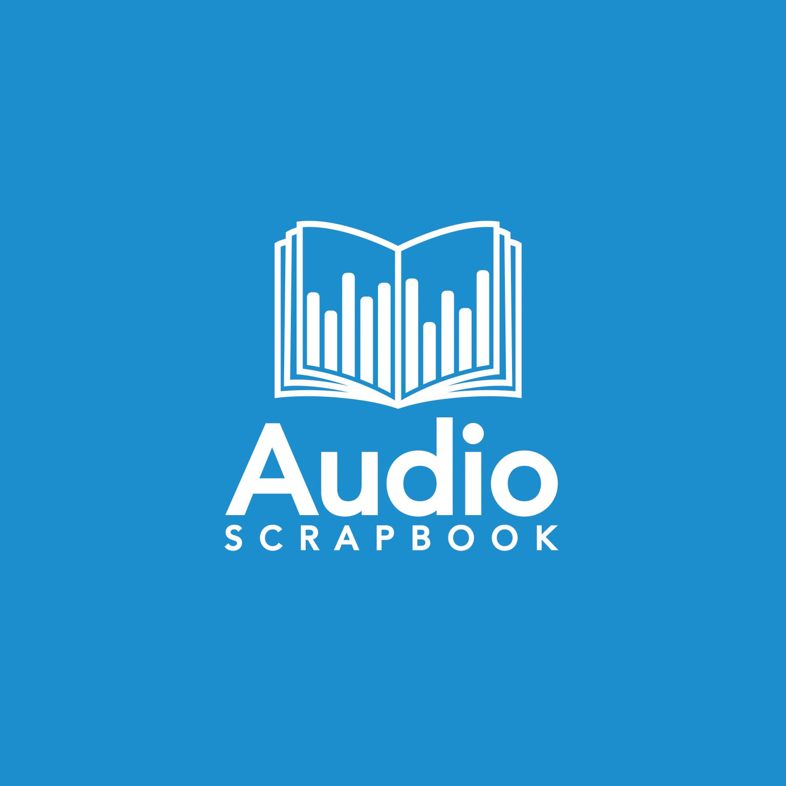 Simple, clean audio company logo that's explains what we do