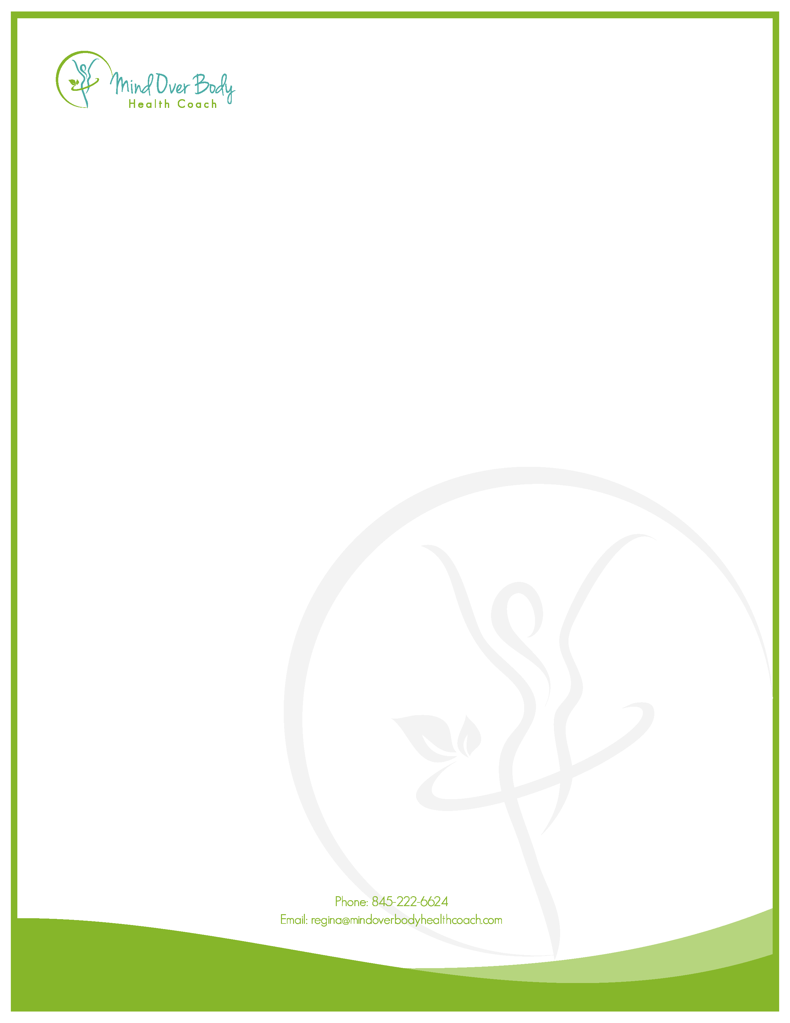 Clutch coupon and letterhead template