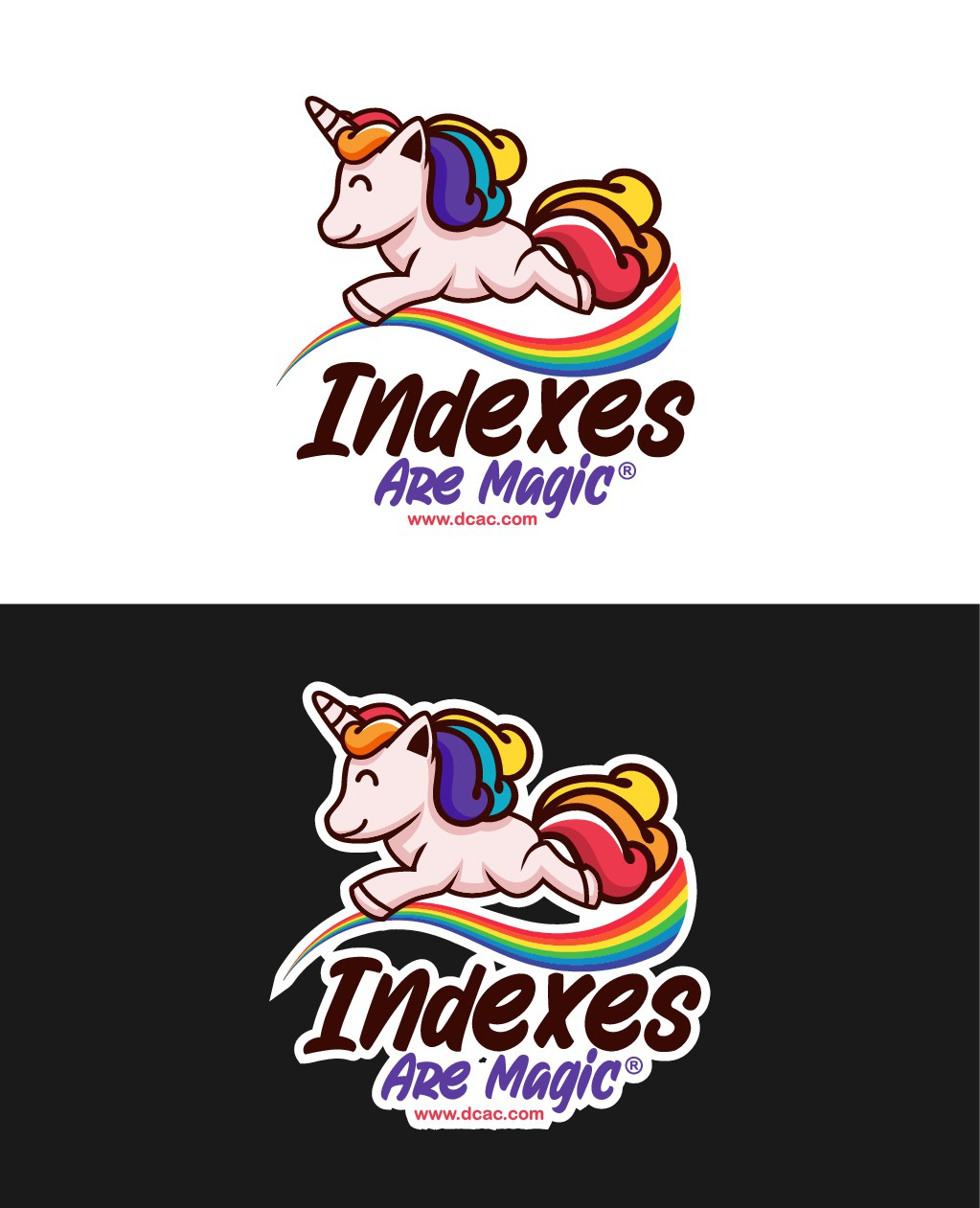 """Playful """"Indexes Are Magic"""" sticker design"""