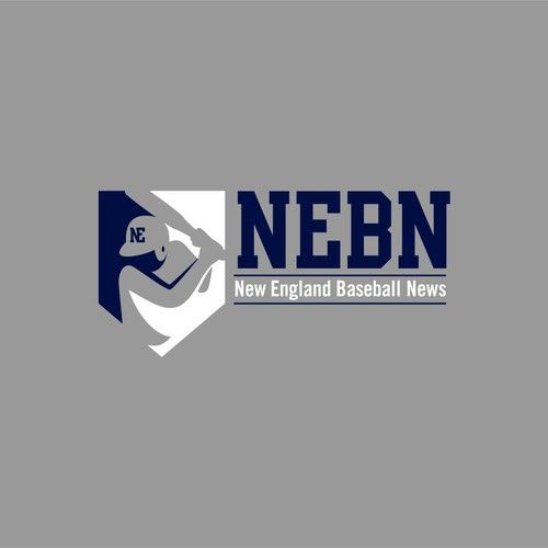 logo for New England Baseball News or NEBN