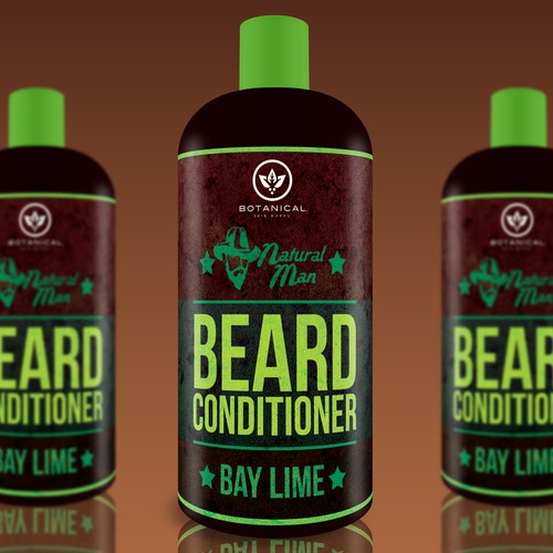 Create a Product Label for Natural Man beard conditioning oil