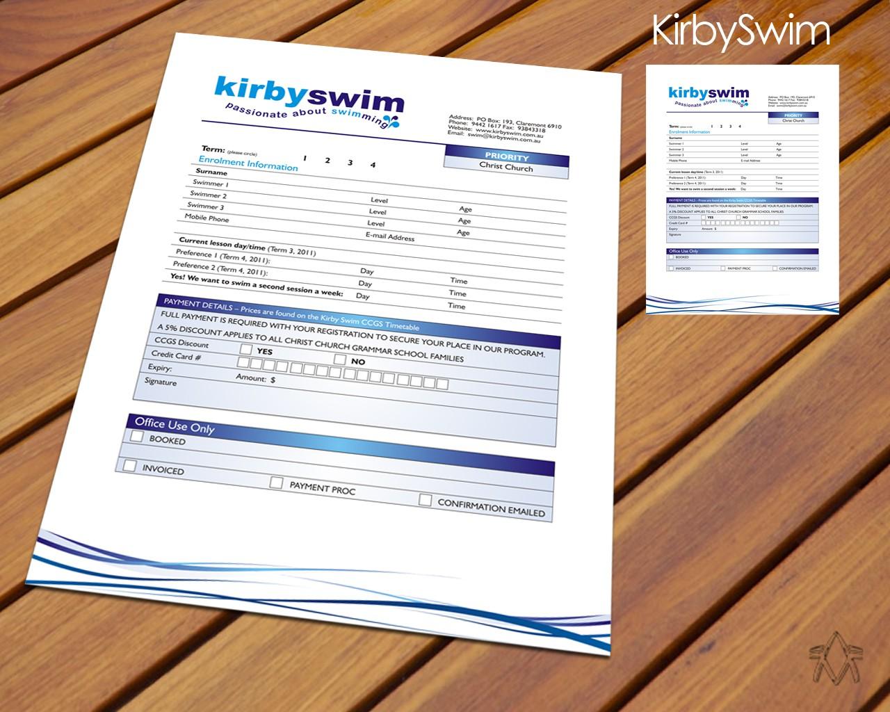 Kirby Swim needs new stationery