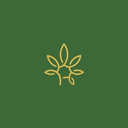 cannabis logo concept