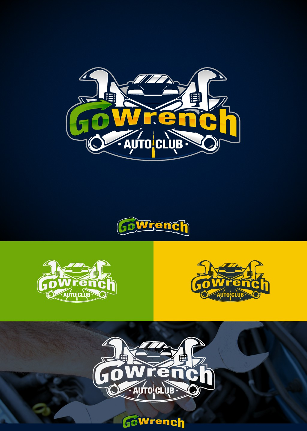 """LOGO for """"GoWrench Auto Club"""" Check it out!"""