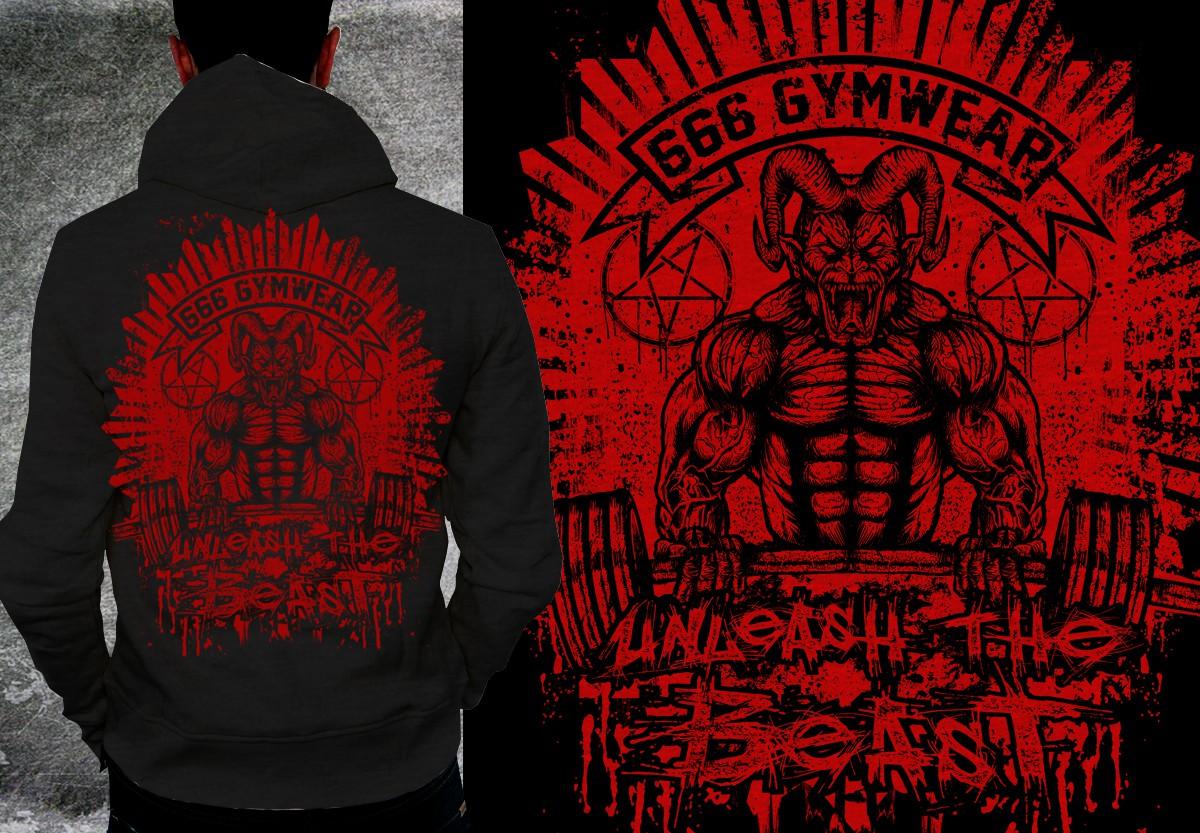 Devil/Demon bodybuilding Hoodie