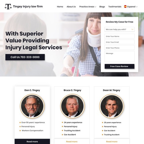 Legal services Home page design