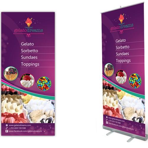 Help Gelato Dreams create roll-up banner