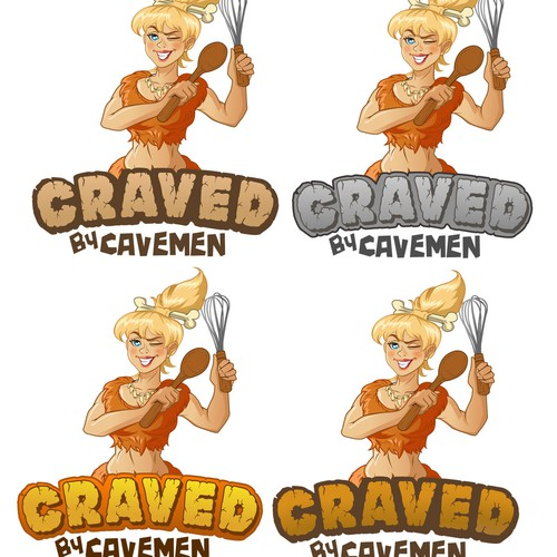 Create our funky Cavegirl!