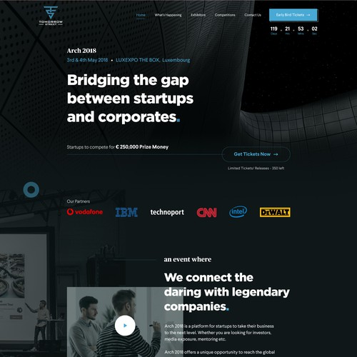 Web Design Concept (Dark Theme)