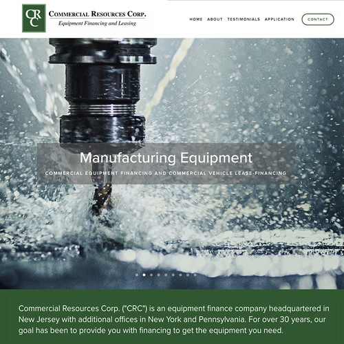 Dynamic Equipment Leasing web design