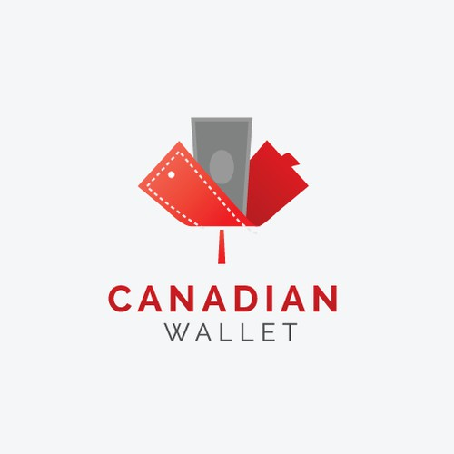 Create a very elegant but simple Canadian Wallet logo.
