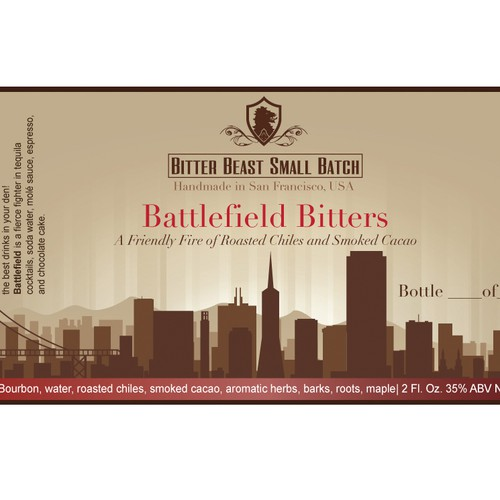Labels for a Small Batch Bitters