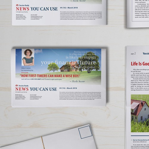 Newspaper concept for real estate