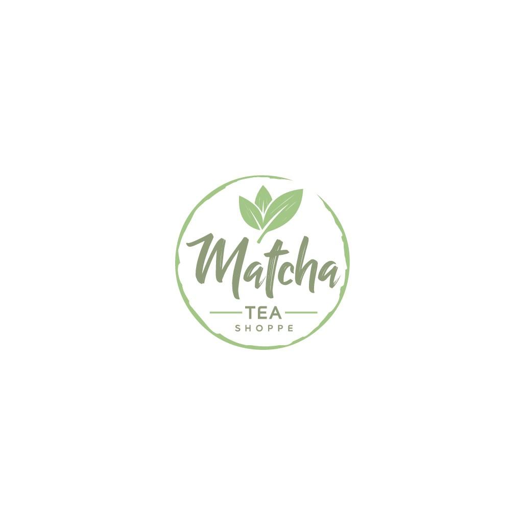 Create an iconic logo for Matcha Tea Shoppe
