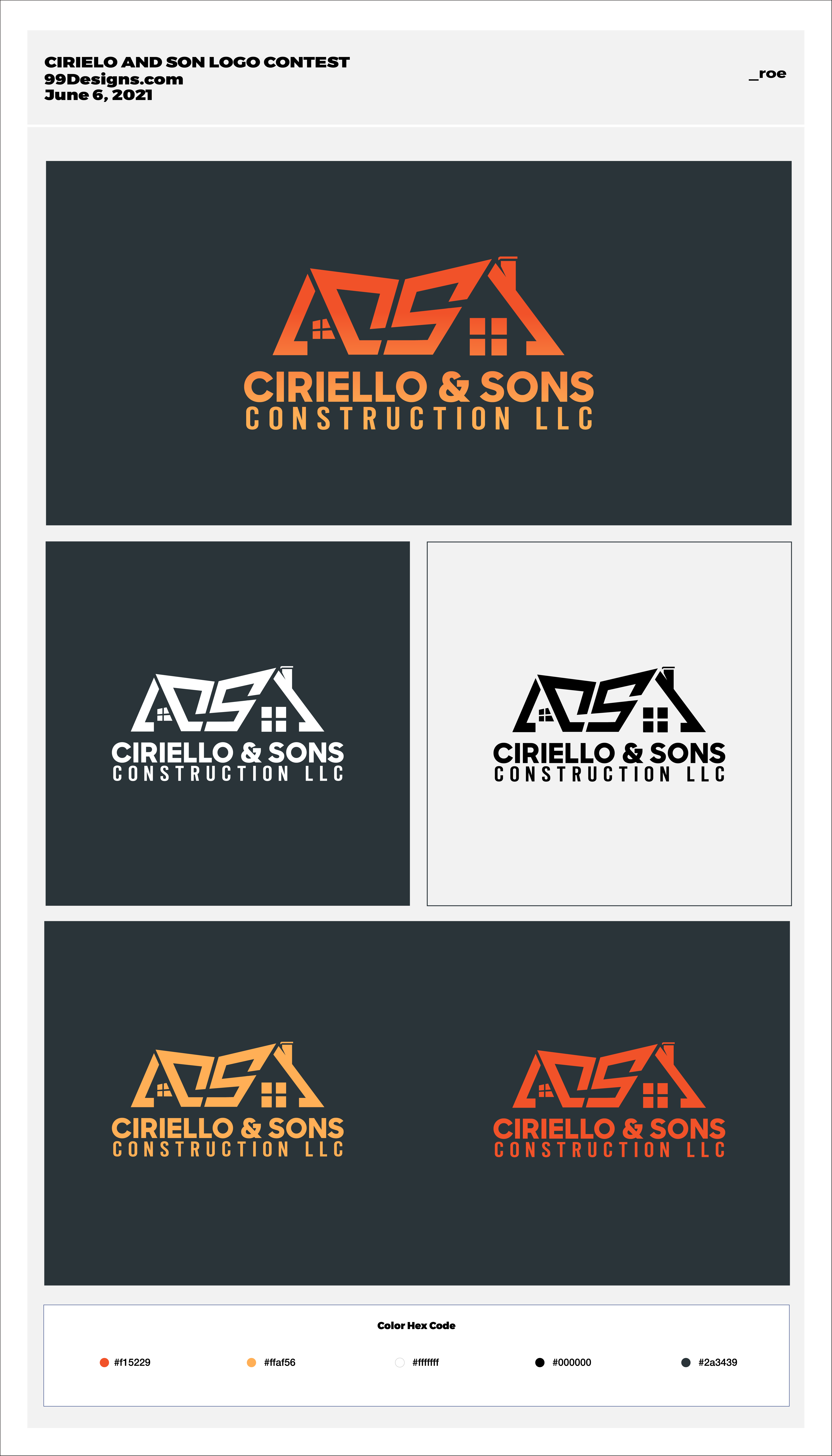 Roofing contractor logo that will be easy to remember and never forgotten