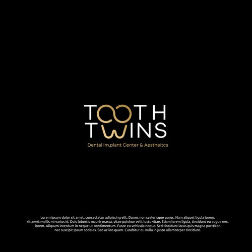 logo concept for tooth twins