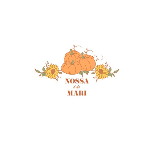 Logo concept for organic pumpkin and sunflower seeds
