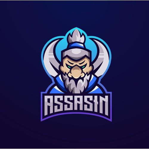 assasin mascot logo concept