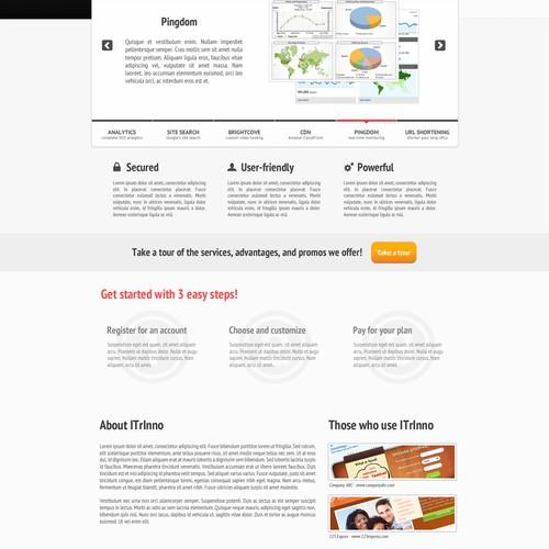 Clean Minimalist Web Design for IT Company