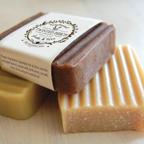Create an enchanting label for Tanglewood Garden & Farm organic soap