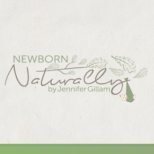 Create a gentle, natural logo for a photographer working with tiny babies under 10 days old