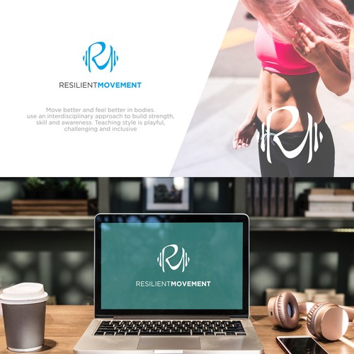 Physical Fitnes Modern Logo Concept
