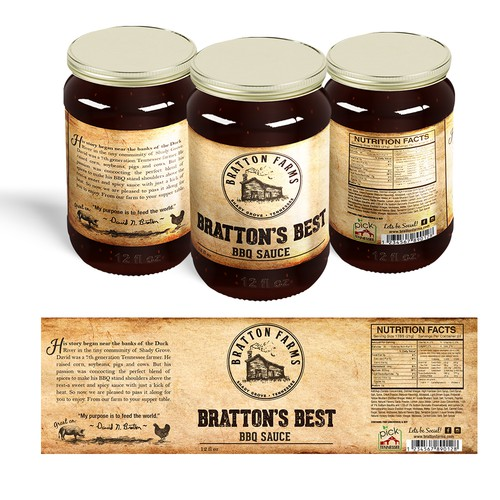 Bratton's Best BBQ sauce
