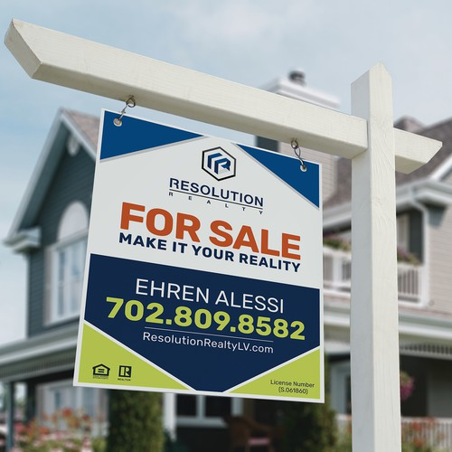 Real estate Listing Sign