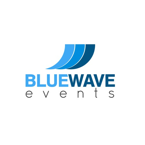 Create a winning logo for Blue Wave Events