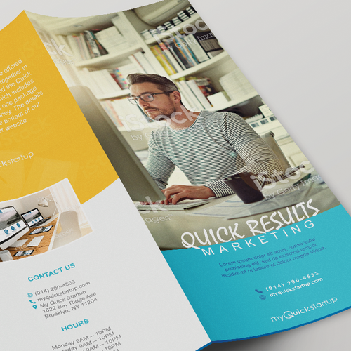 "Modern looking brochure for ""My Quick Startup"""