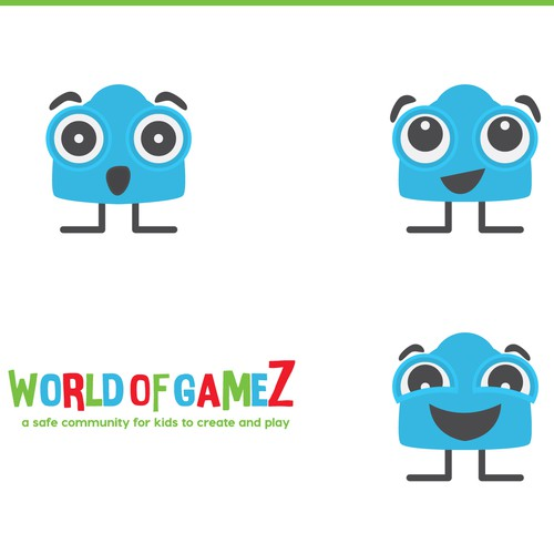 Vibrant character for kids gaming site.