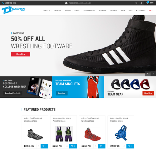 Website Design for Sports Store