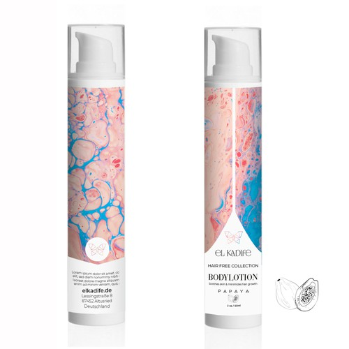 Body lotion, hair free collection