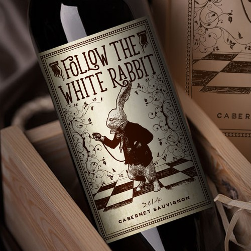 Follow the White Rabbit and Create a Wonderful Wine Label!!