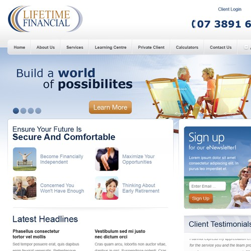 Financial Services Company requires fresh website design