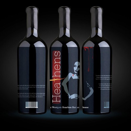 Label design for Wine Label Heathens