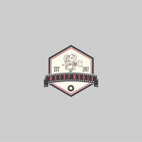 logo concept for wayup media