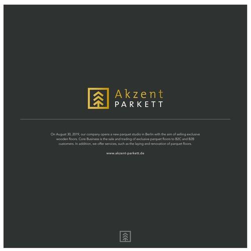 Logokonzept für ein Unternehmen, das hochwertiges Parkett verkauft und verlegt