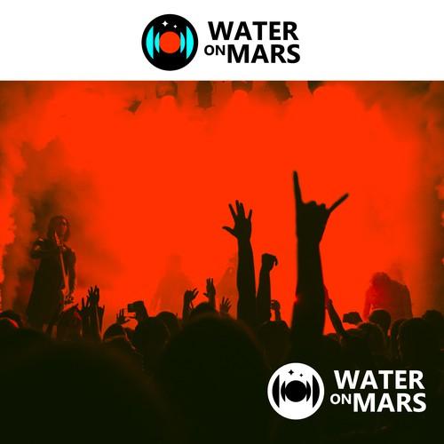 water on mars (recording studio logo)