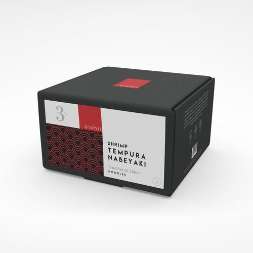 Tempura Noodles Packaging Design