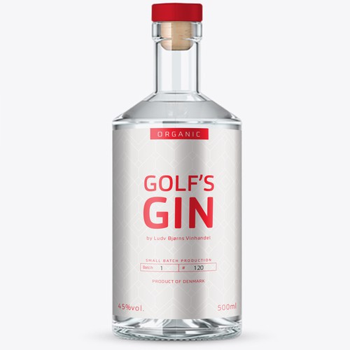 Golf's Gin label