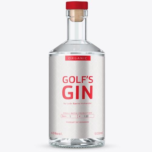 Golf's Gin label