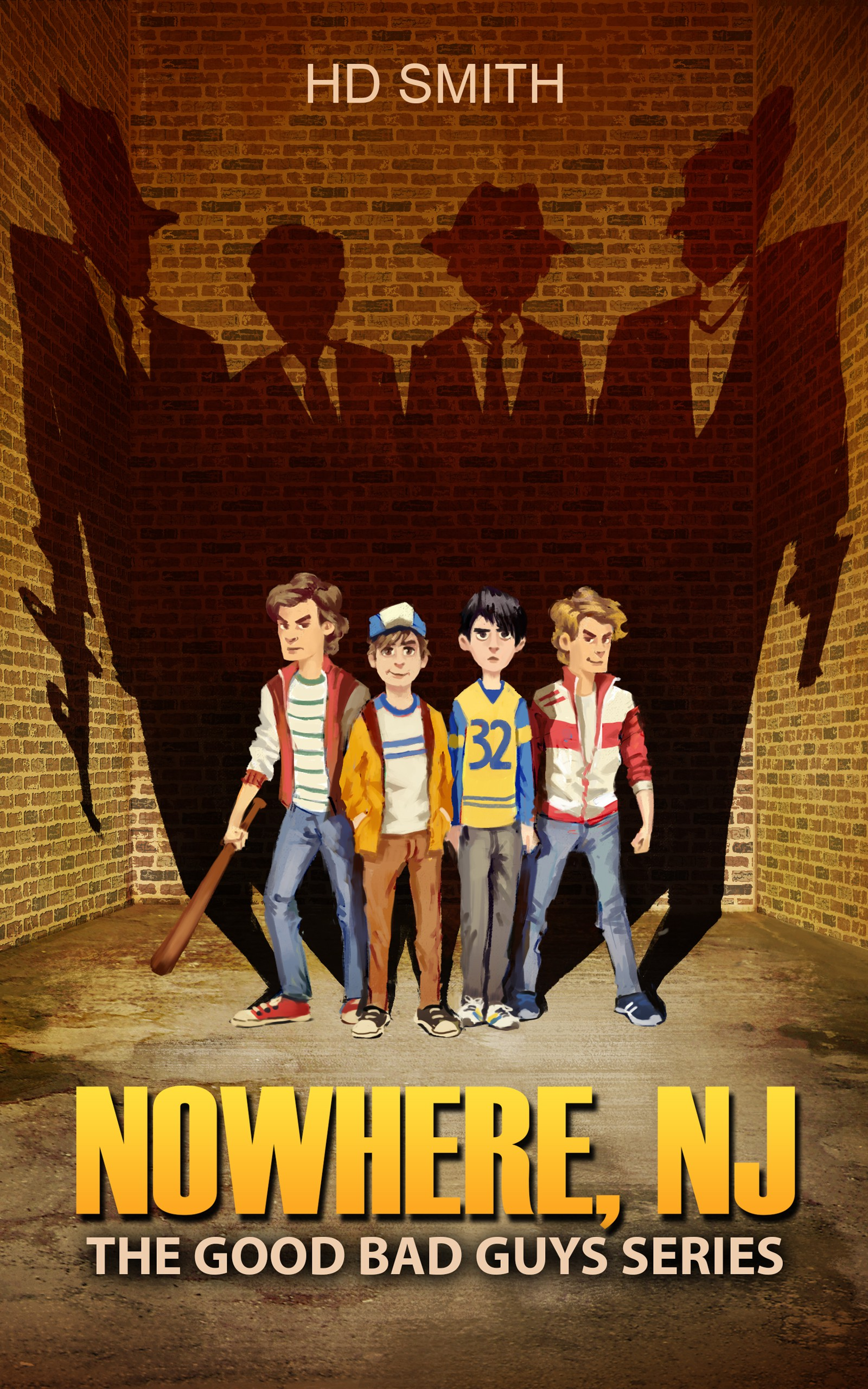 Illustrated Book Cover for Nowhere, NJ