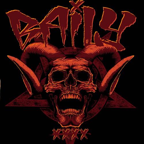 设计一件粗糙,令人讨厌,邪恶和血腥的重金属T恤