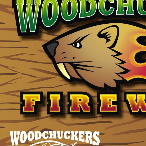 Woodchuckers Firewood *Guaranteed* Logo Design